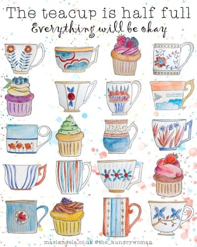 The teacup is half full